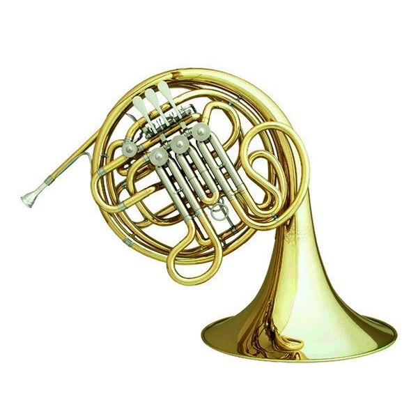 Hans Hoyer 6801 Double French Horn, Clear Lacquer