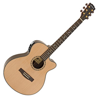 Deluxe Single Cutaway Electro Acoustic Guitar by Gear4music, Natural