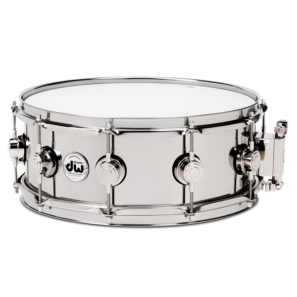 "DW Stainless Steel, 13"" x 4.5"" Snare Drum"
