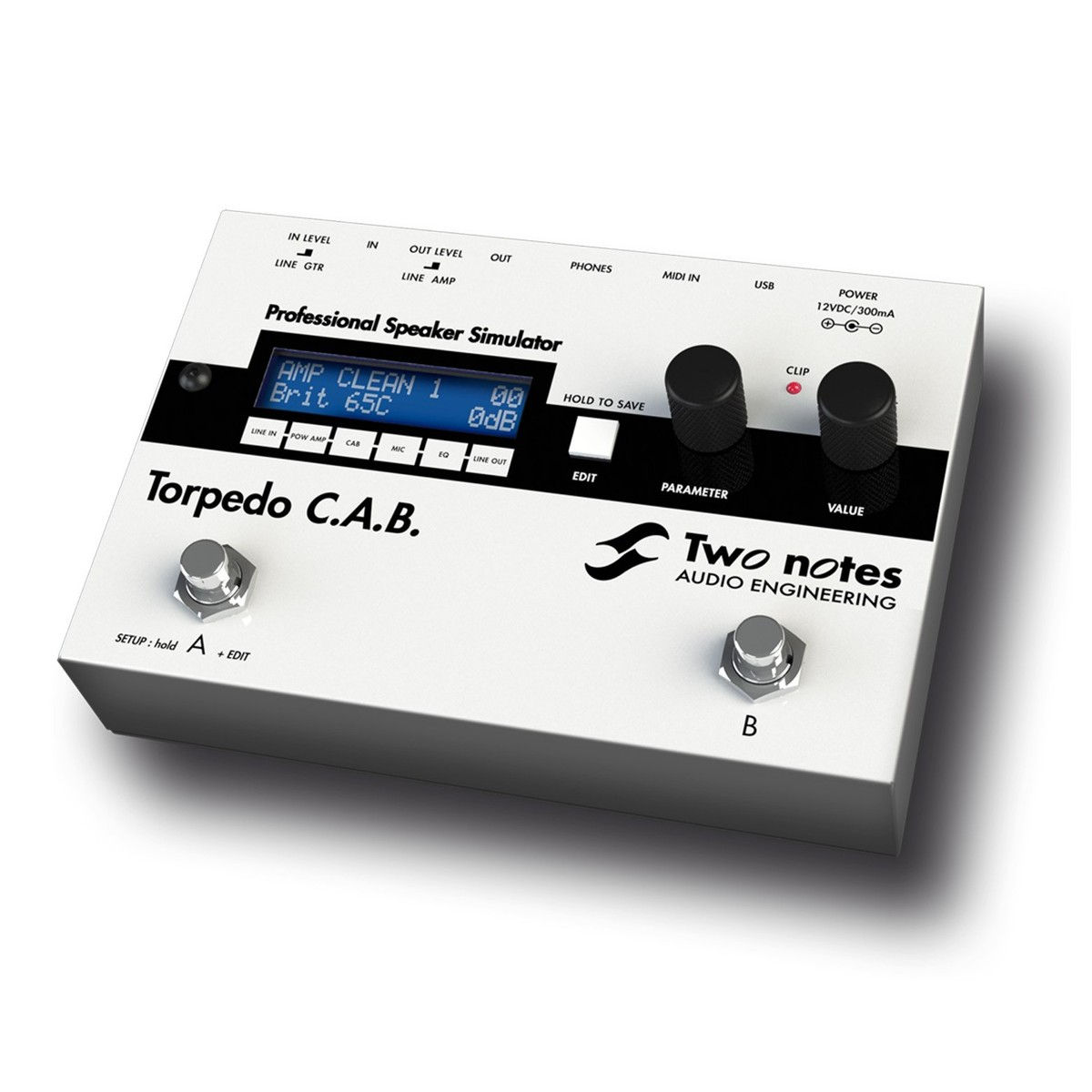 Two Notes Torpedo Cab Cabinet Simulator Pedal At Gear4music