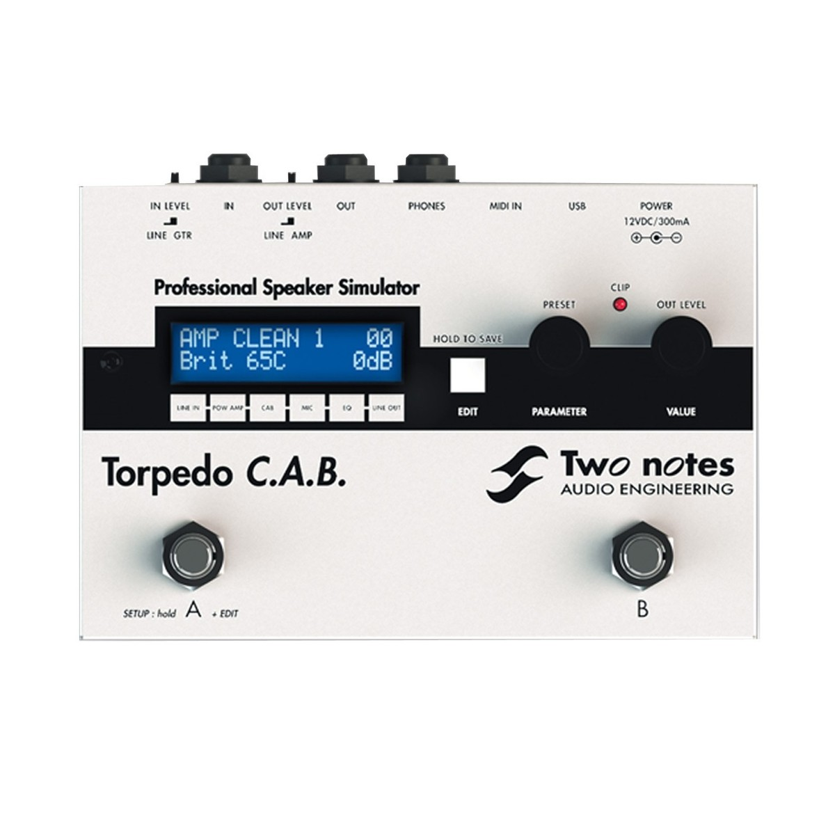 Two Notes Torpedo Cab Cabinet Simulator Pedal At Gear4music Com