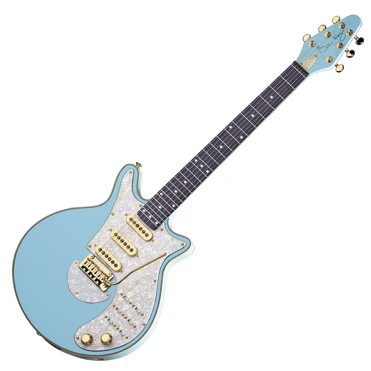 brian may special electric guitar baby blue at gear4music