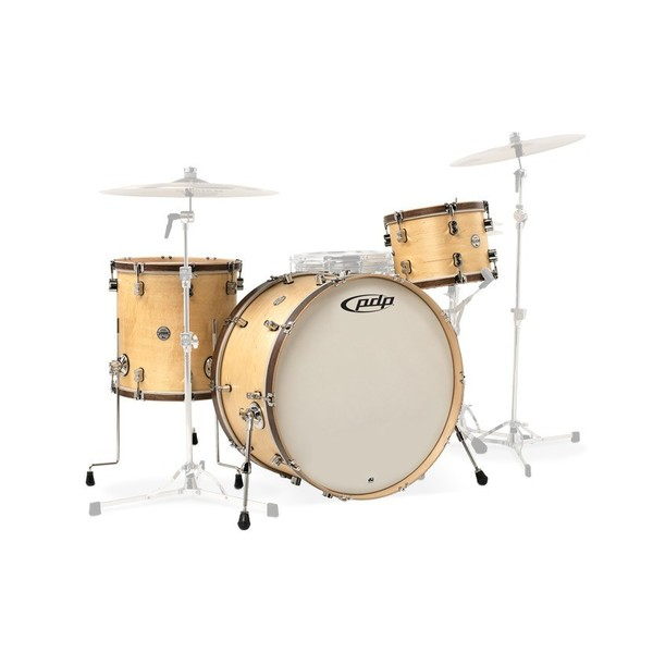 """PDP Concept Maple Classic, 22"""" Shell Pack, Natural with Walnut Hoops"""