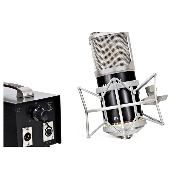 Mode Machines MT-8 Vintage Tube Microphone - Microphone & Power Supply