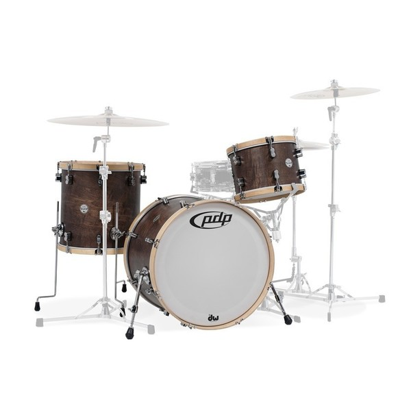 """PDP Concept Maple Classic, 26"""" Shell Pack, Walnut with Natural Hoops"""