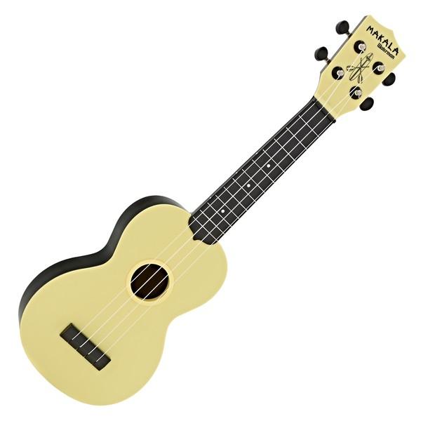 Makala Waterman MK-SWB/YL Soprano Ukulele, Pale Yellow