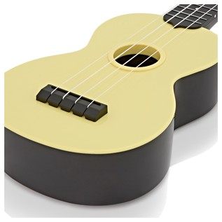 Makala Waterman MK-SWB/YL Soprano Ukulele, Pale Yellow