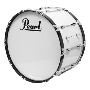 Pearl Competitor 24'' x 14'' Marching Bass Drum, Pure White