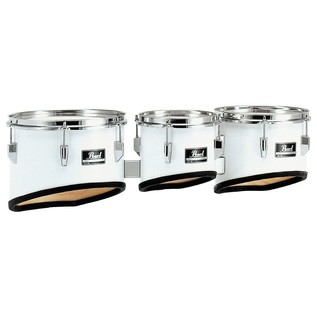 Pearl Competitor Marching Tom Set, 8'' 10'' 12'', Pure White