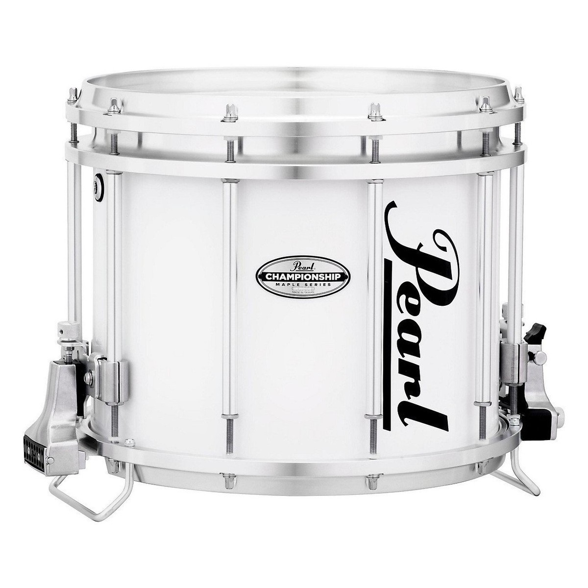 pearl championship maple 14 39 39 x 12 39 39 marching snare drum pure white at gear4music. Black Bedroom Furniture Sets. Home Design Ideas