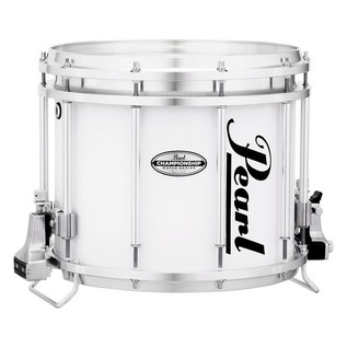 Pearl Championship Maple 14'' x 12'' Marching Snare Drum, Pure White