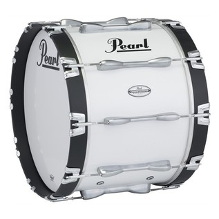 Pearl Championship Maple 16''x14'' Marching Bass Drum, Pure White