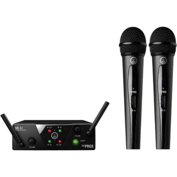 AKG WMS 40 Mini Dual Wireless Vocal Microphone System
