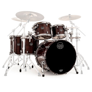 Mapex Saturn V 22'' Sound Wave Twin Shell Pack, Espresso Walnut