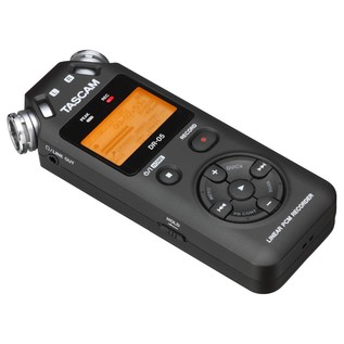 Tascam DR-05 Portable Handheld Audio Recorder - Angled