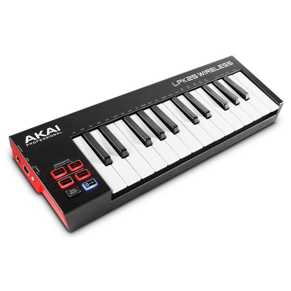 Akai LPK25 Wireless MIDI Controller - Angled