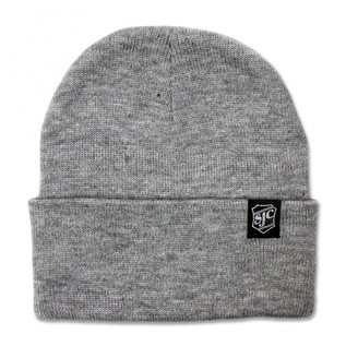 SJC Custom Drums Beanie, Light Grey with Woven Logo