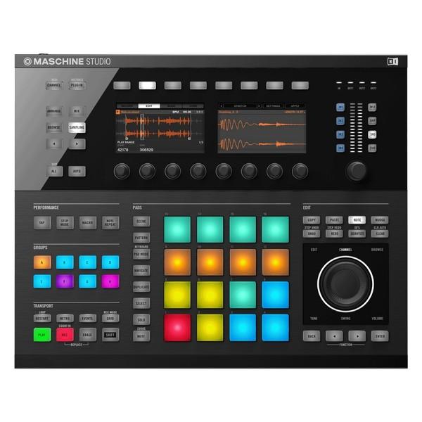 Native Instruments Maschine Studio with Komplete 11 ULT, Black - Top