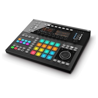 Native Instruments Maschine Studio with Komplete 11, Black - Maschine Angled