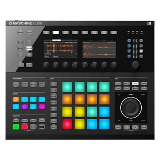 Native Instruments Maschine Studio with Komplete 11, Black - Maschine Top