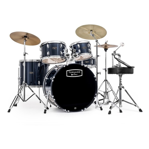 Mapex Tornado III 22'' Rock Drum Kit, Blue with Extra Crash