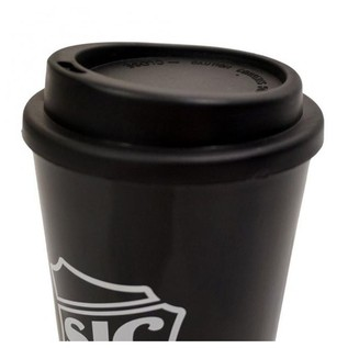SJC Custom Drums Travel Mug, Black with White Logo