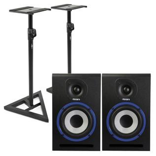 Mixars MXM5 Studio Monitors with Stands - Bundle