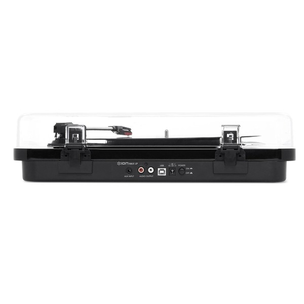 ION Max LP USB Turntable with Integrated Speakers, Black - Side