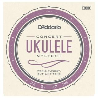 D'Addario EJ88C Nyltech Ukulele, Concert
