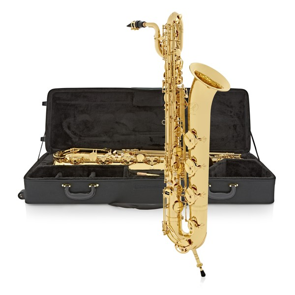 Rosedale Baritone Saxophone by Gear4music, Gold