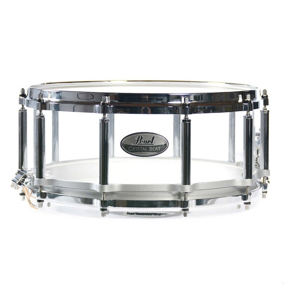 Pearl Crystal Beat 14x5 Acrylic Free Floating Snare Drum, Ultra ...