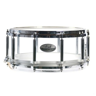 Pearl Crystal Beat 14x6.5 Acrylic Free Floating Snare, Ultra Clear