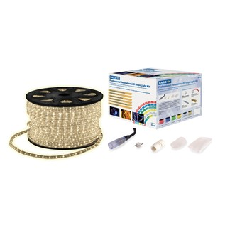 Eagle Static LED Rope Light With Wiring Accessories Kit 45m, Ice White