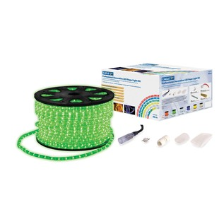 Eagle Static LED Rope Light With Wiring Kit, 90m, Green