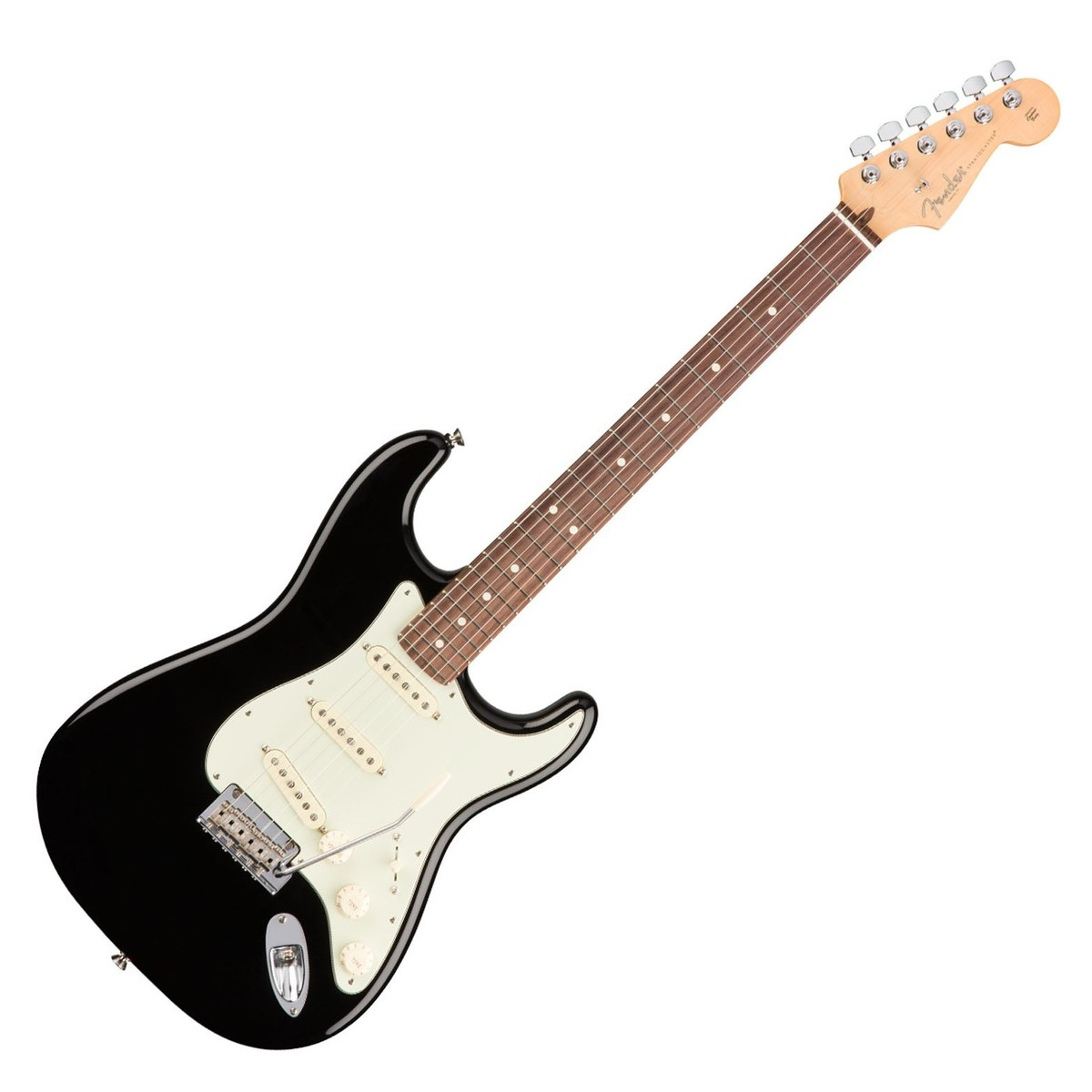 fender american professional stratocaster rw black at gear4music. Black Bedroom Furniture Sets. Home Design Ideas