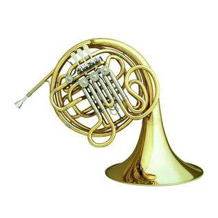Hans Hoyer 6801 Double French Horn, Clear Lacquer, Gold Brass Bell