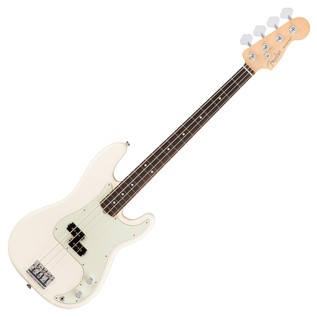 Fender American Pro Precision Bass Guitar RW, Olympic White