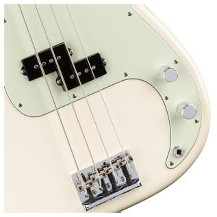 Fender American Pro Precision Bass Guitar, White