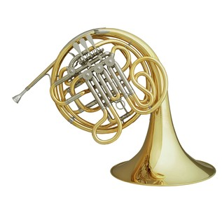 Hans Hoyer 7801 Double French Horn, Gold Lacquer