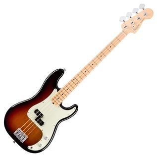 Fender American Pro Precision Bass Guitar MN, 3-Tone Sunburst