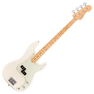 Fender American Pro Precision Bass Guitar MN, Olympic White
