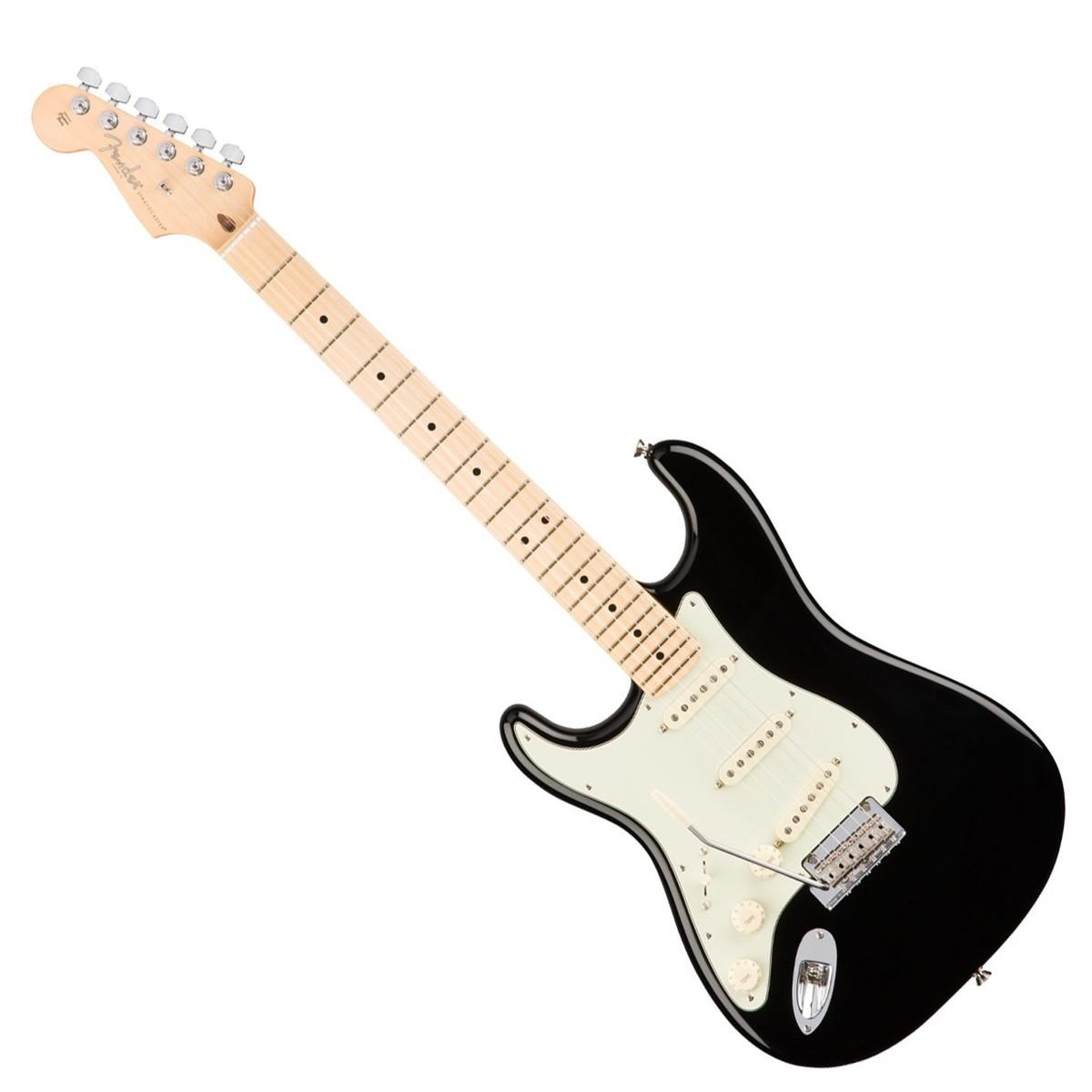 fender american pro stratocaster left handed mn black at gear4music. Black Bedroom Furniture Sets. Home Design Ideas