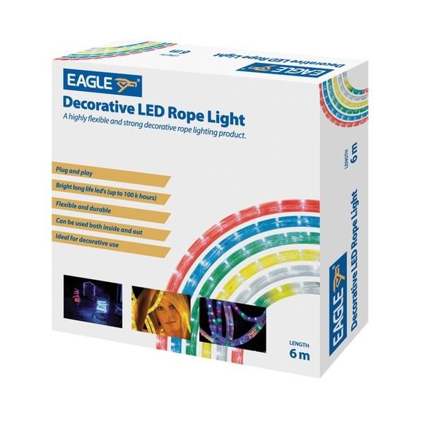 Eagle Static LED Rope Light 6m, Green