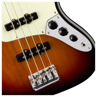 Fender American Pro Jazz Bass Guitar, 3-Tone Sunburst