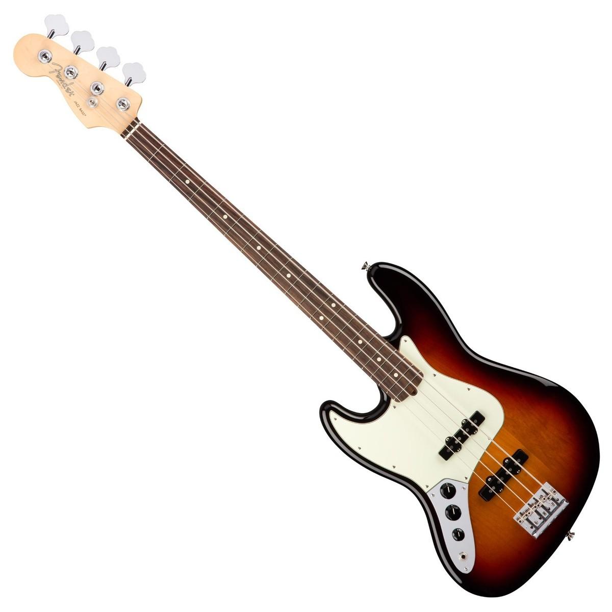 fender american pro jazz bass left handed rw 3 tone sunburst at gear4music. Black Bedroom Furniture Sets. Home Design Ideas