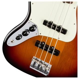 Fender American Pro Jazz Left Handed Bass Guitar, 3-Tone Sunburst