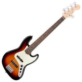 Fender American Pro Jazz V Bass Guitar RW, 3-Tone Sunburst