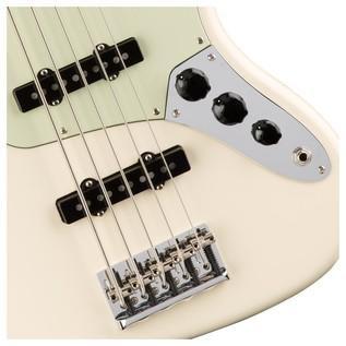 Fender American Pro Jazz V Bass Guitar, Olympic White