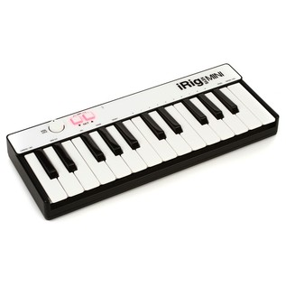 IK Multimedia iRig Mini Keys for iOS, Android and Mac/PC - Angled
