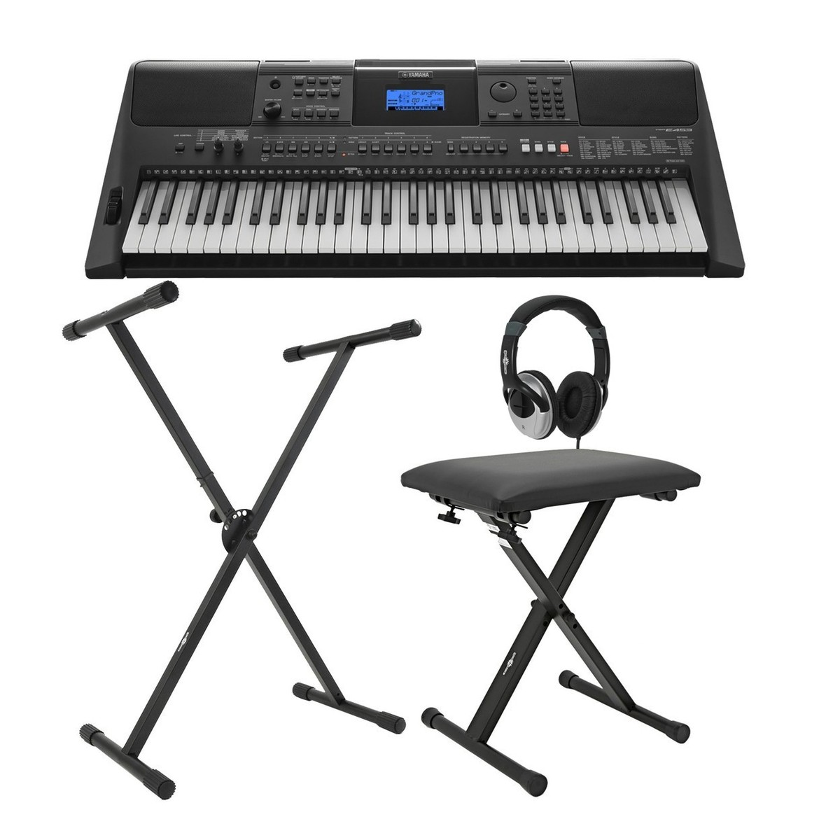 yamaha psr e453 keyboard x frame package at gear4music. Black Bedroom Furniture Sets. Home Design Ideas